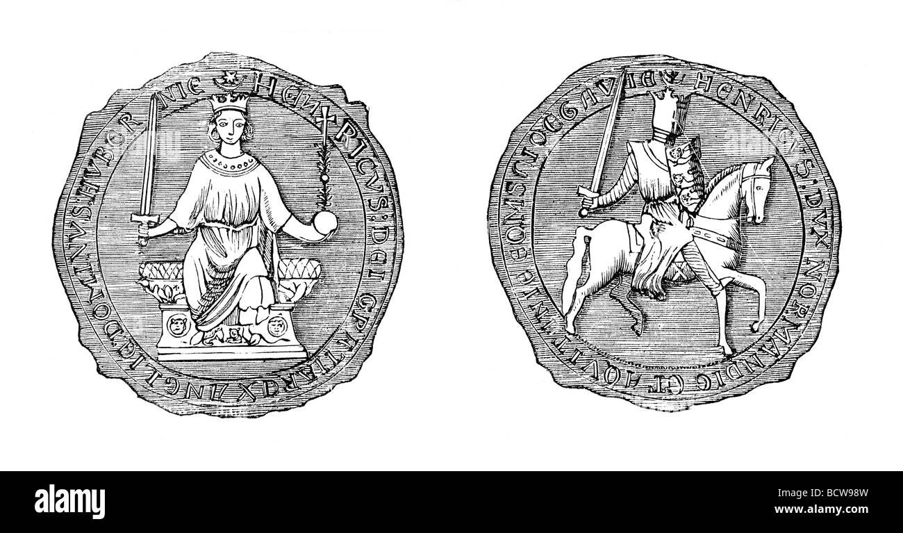 The Great Seal of King Henry III of England Stock Photo