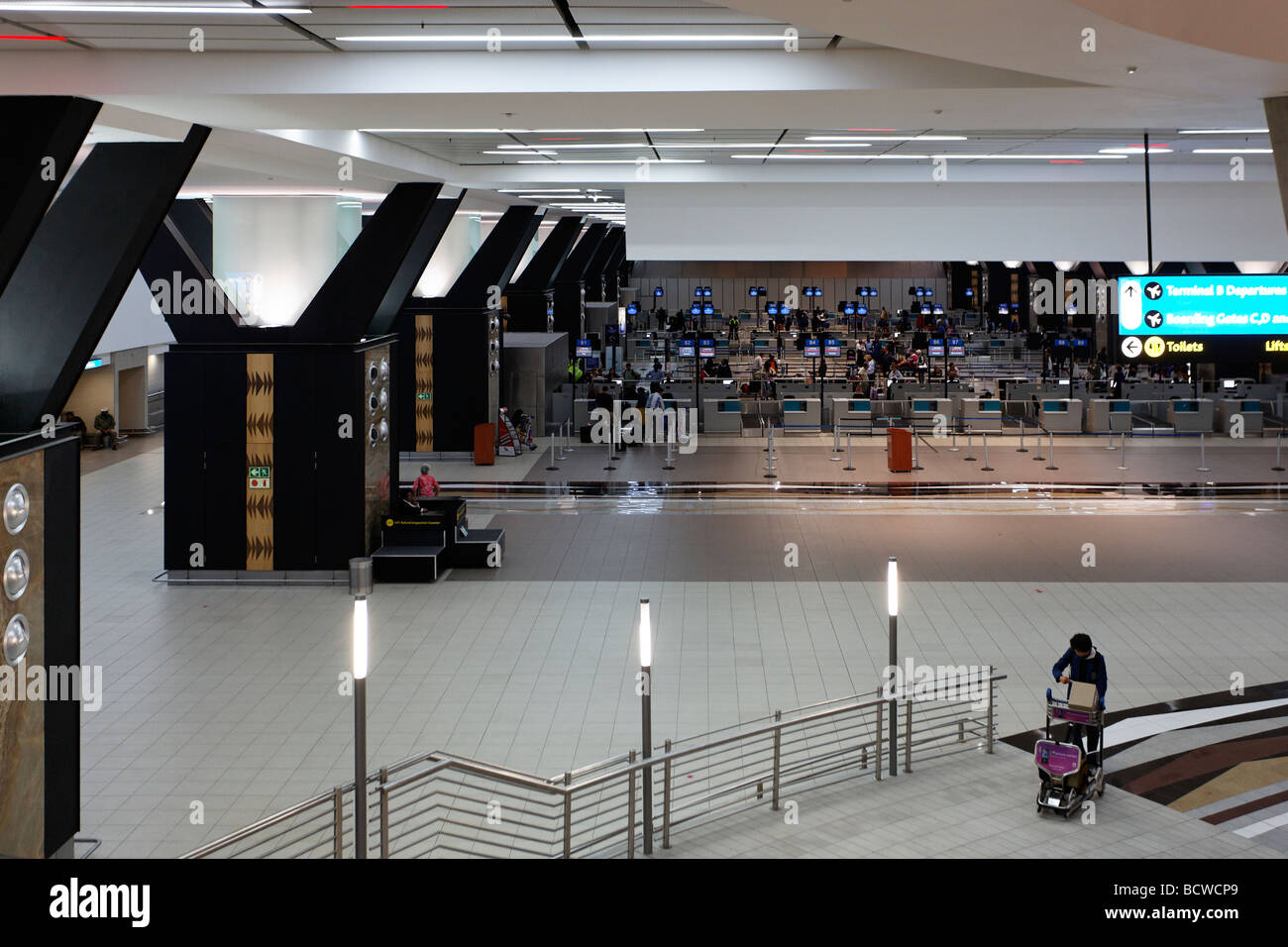 Departure hall, check in, O R Tambo International Airport, Johannesburg, South Africa, Africa - Stock Image