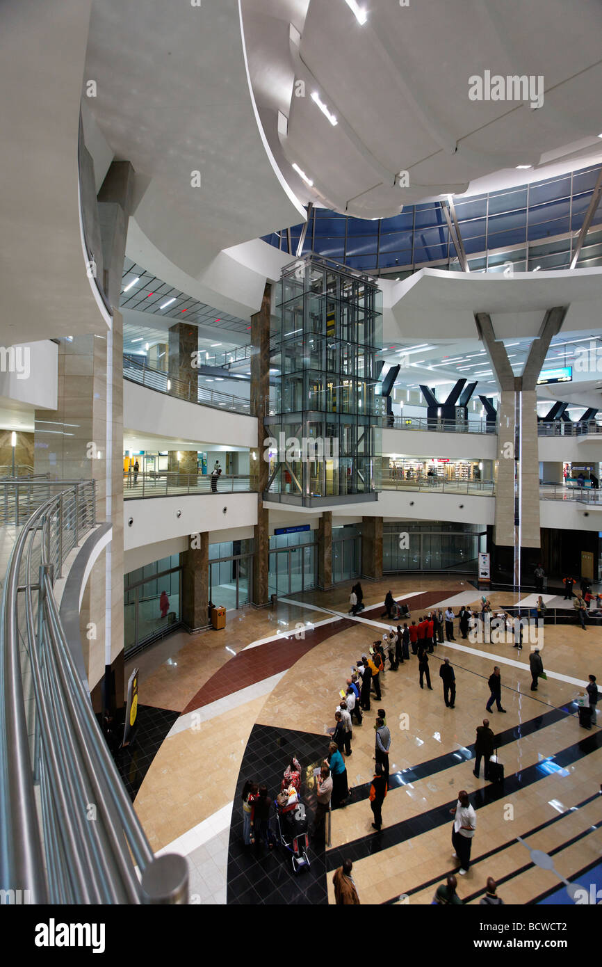 Arrival hall, O R Tambo International Airport, Johannesburg, South Africa, Africa Stock Photo