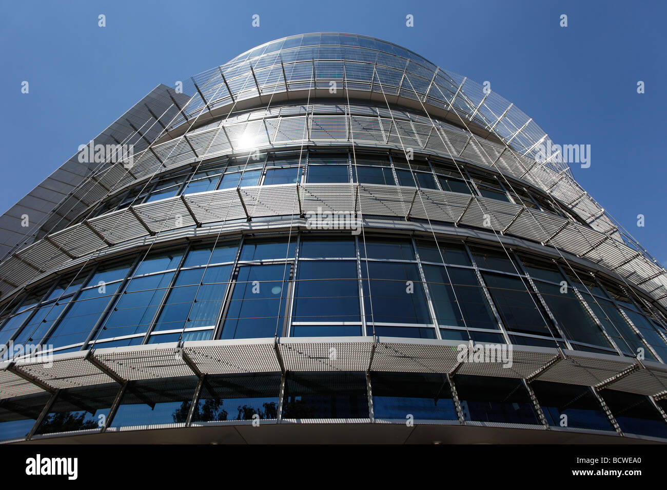 Modern office building, fair trade administration, Nuremberg Congress Center, CCN, exibition center, fair trade - Stock Image