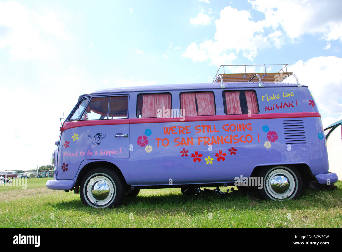 Classic alternative VW bus - Stock Image
