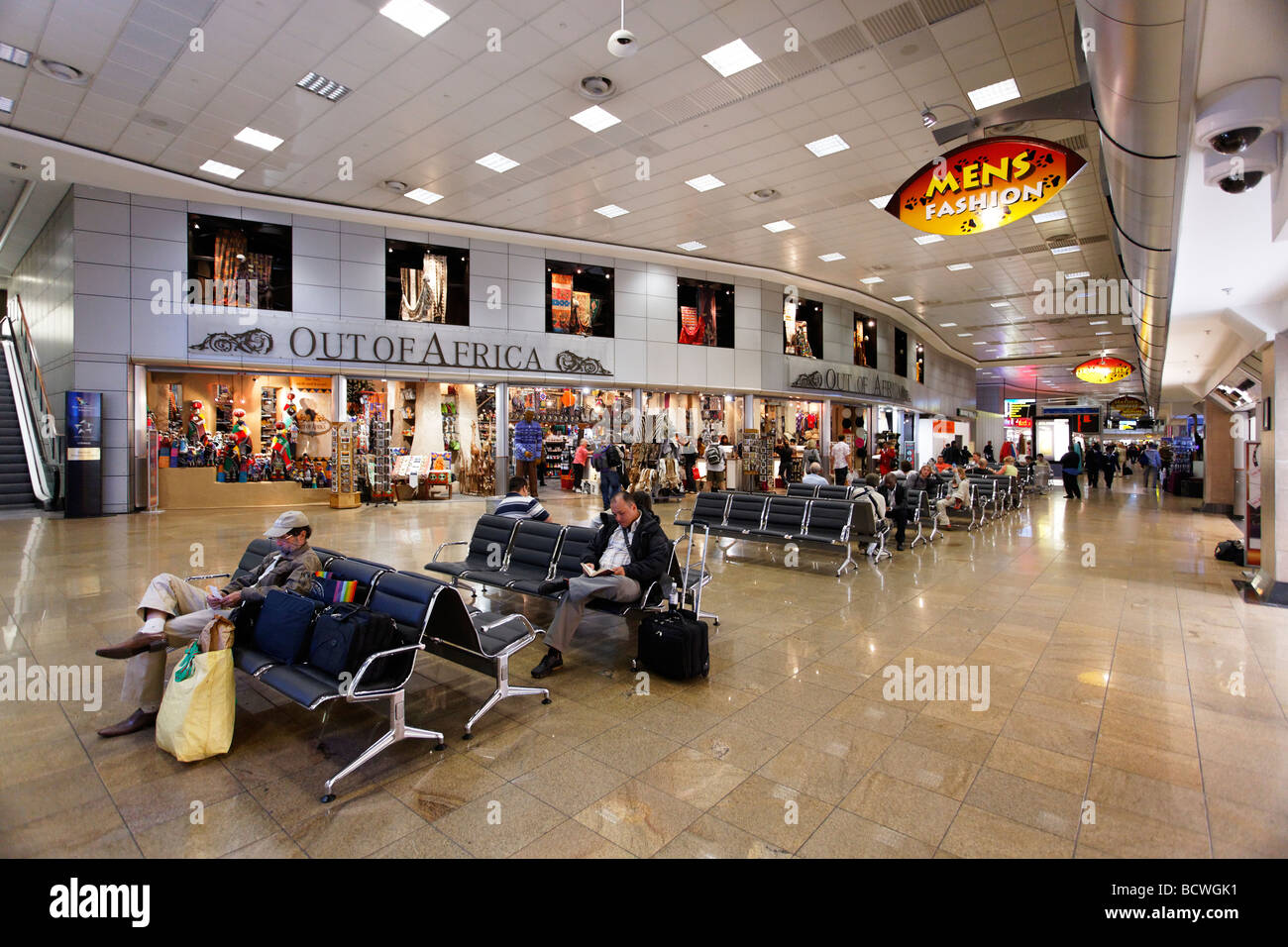 Duty free shopping area, departure, O R Tambo International Airport, Johannesburg, South Africa, Africa - Stock Image