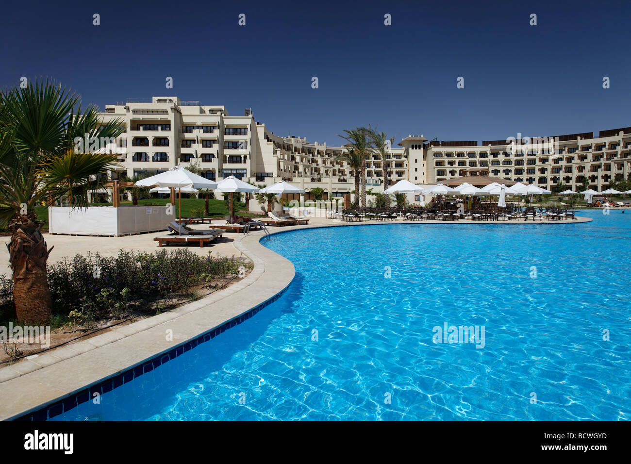 Pool, Steigenberger Al Dau Beach Resort, Hurhada, Egypt, Red Sea, Africa - Stock Image