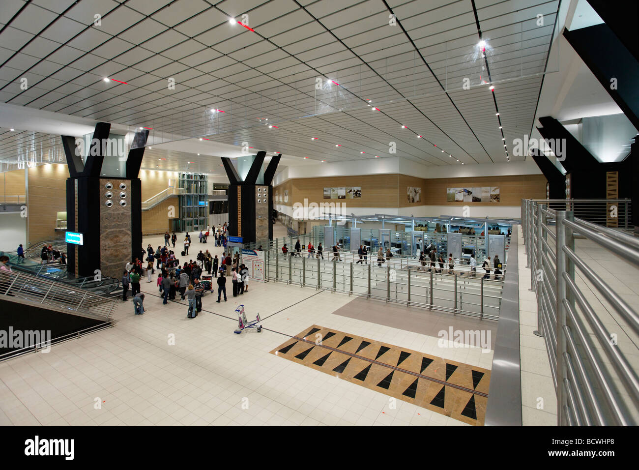 Hand baggage control, O R Tambo International Airport, Johannesburg, South Africa, Africa - Stock Image