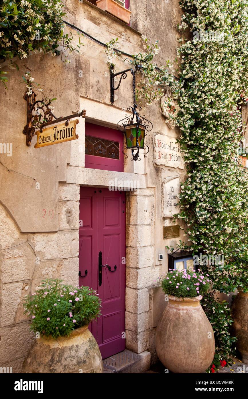 Doorway in La Turbie, Provence France - Stock Image