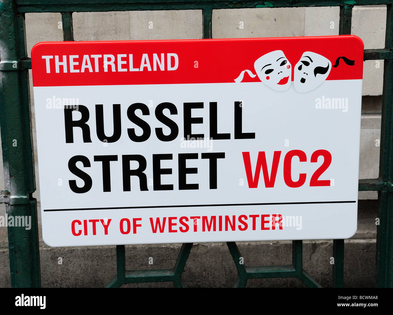 Russell Street Sign London England Britain July 09 - Stock Image