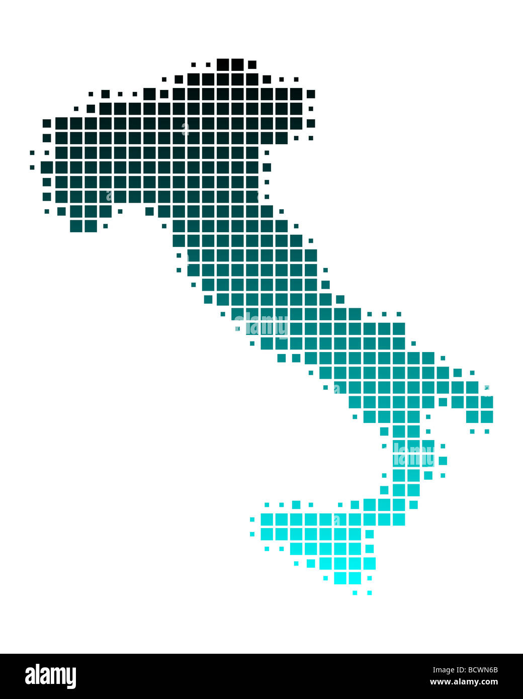 Map of Italy - Stock Image