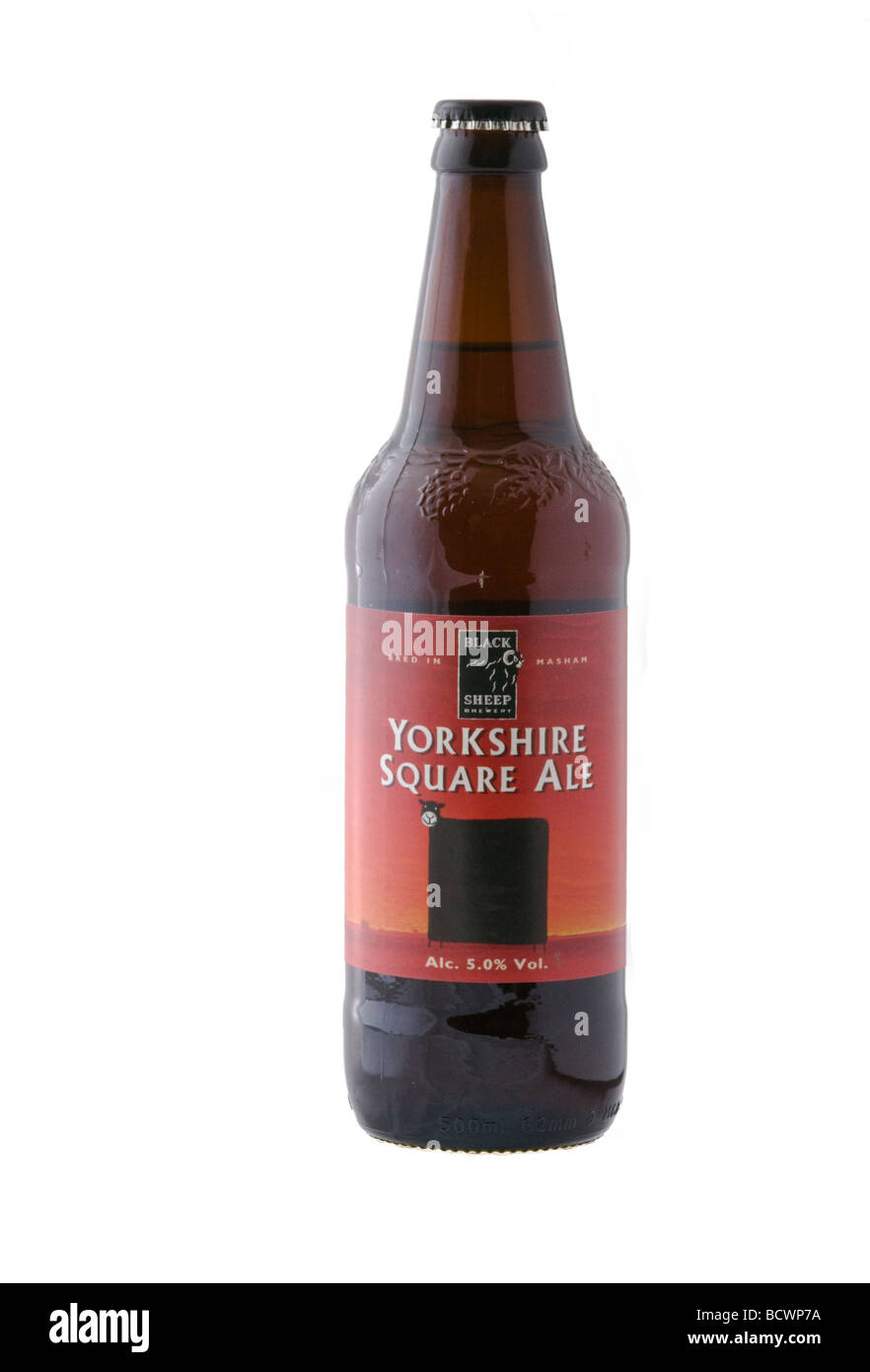 Bottle of Yorkshire Square Ale brewed in Masham, Yorkshire, by the Black Sheep Brewery Plc - Stock Image