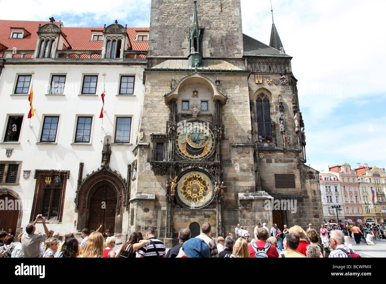 Prague, The Astronomical Clock . (Orioj) Czech Republic. - Stock Image