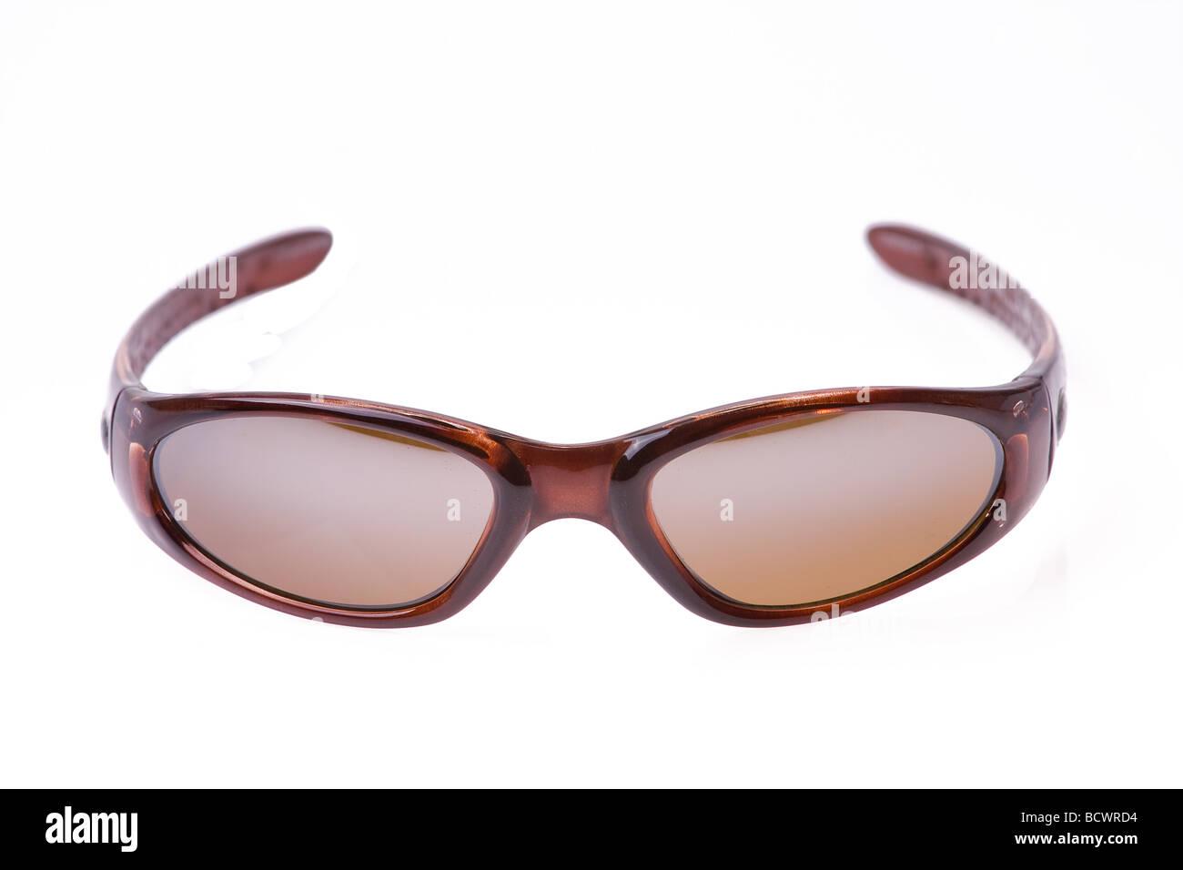 0d6b162e9c0 sports sunglasses on white background Stock Photo  25153440 - Alamy