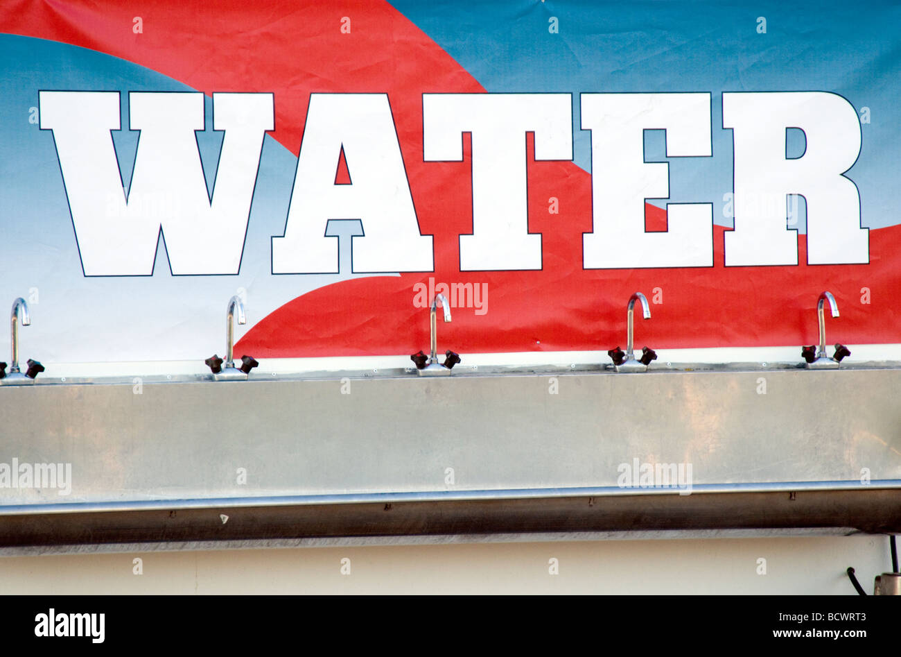 fresh clean water tap taps plumbing plumber hydration mixer mixing wash washing drink drinking drinks h2o plumbers - Stock Image