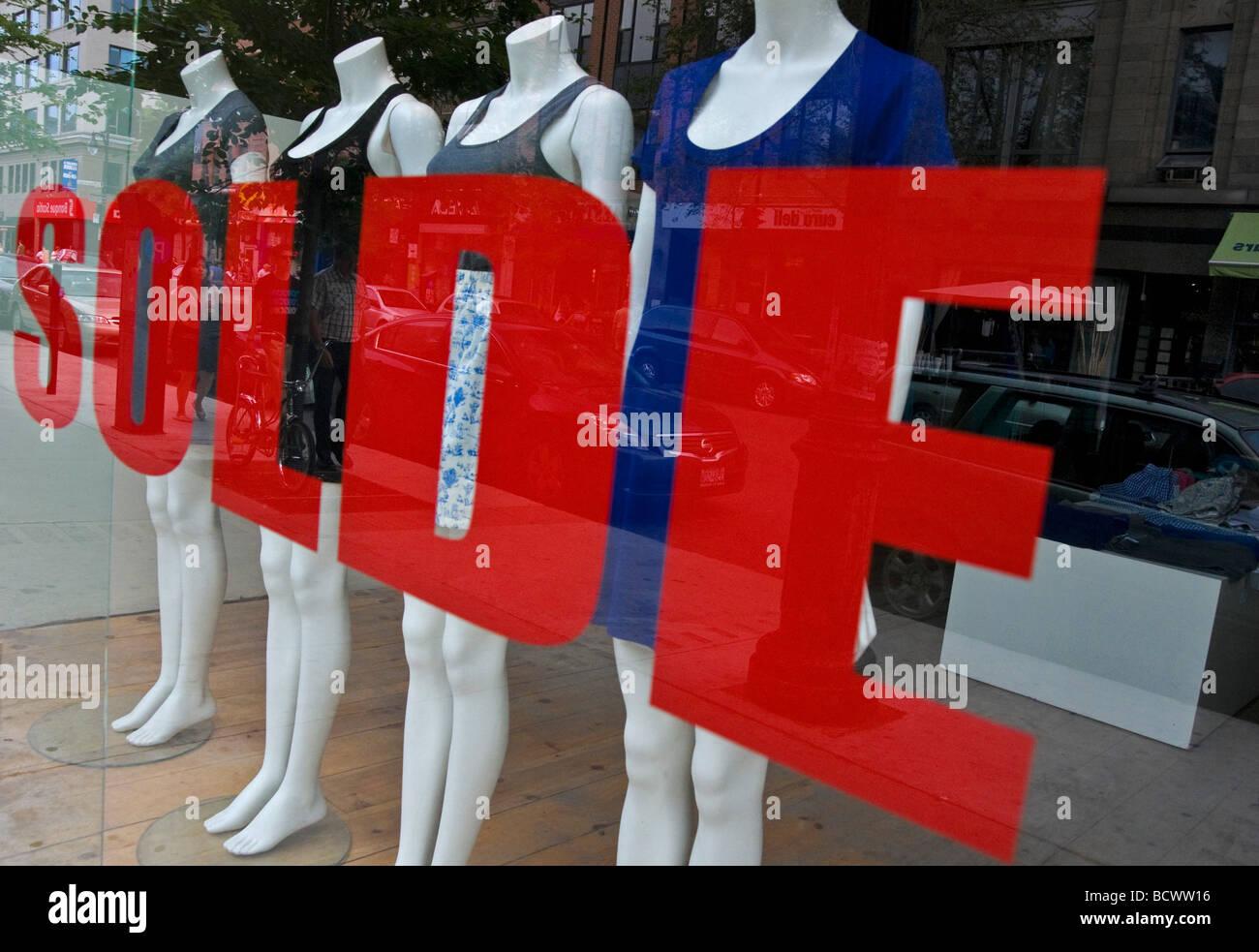 Sales on boulevard saint laurent Montreal canada - Stock Image