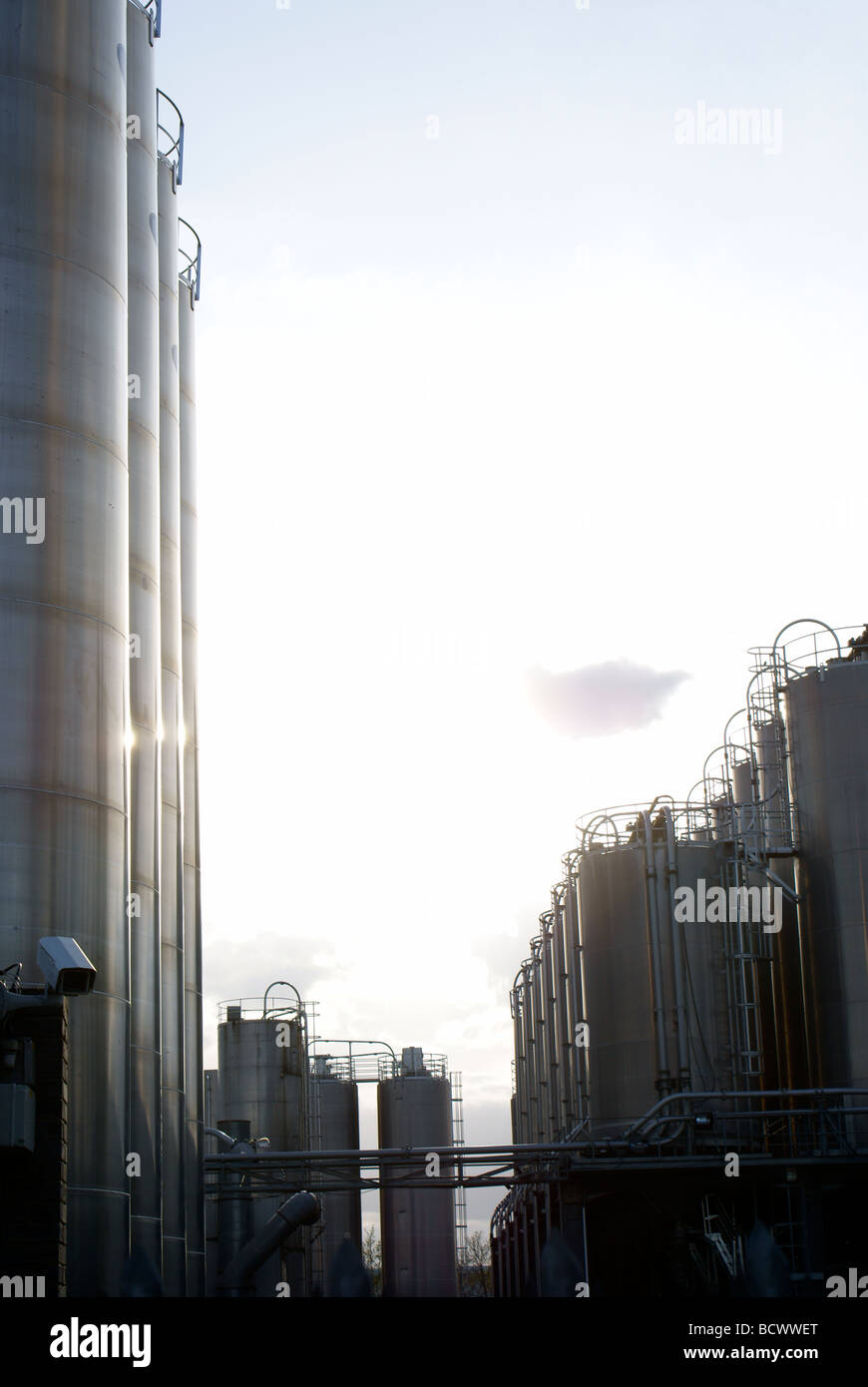 Chemical works - Stock Image