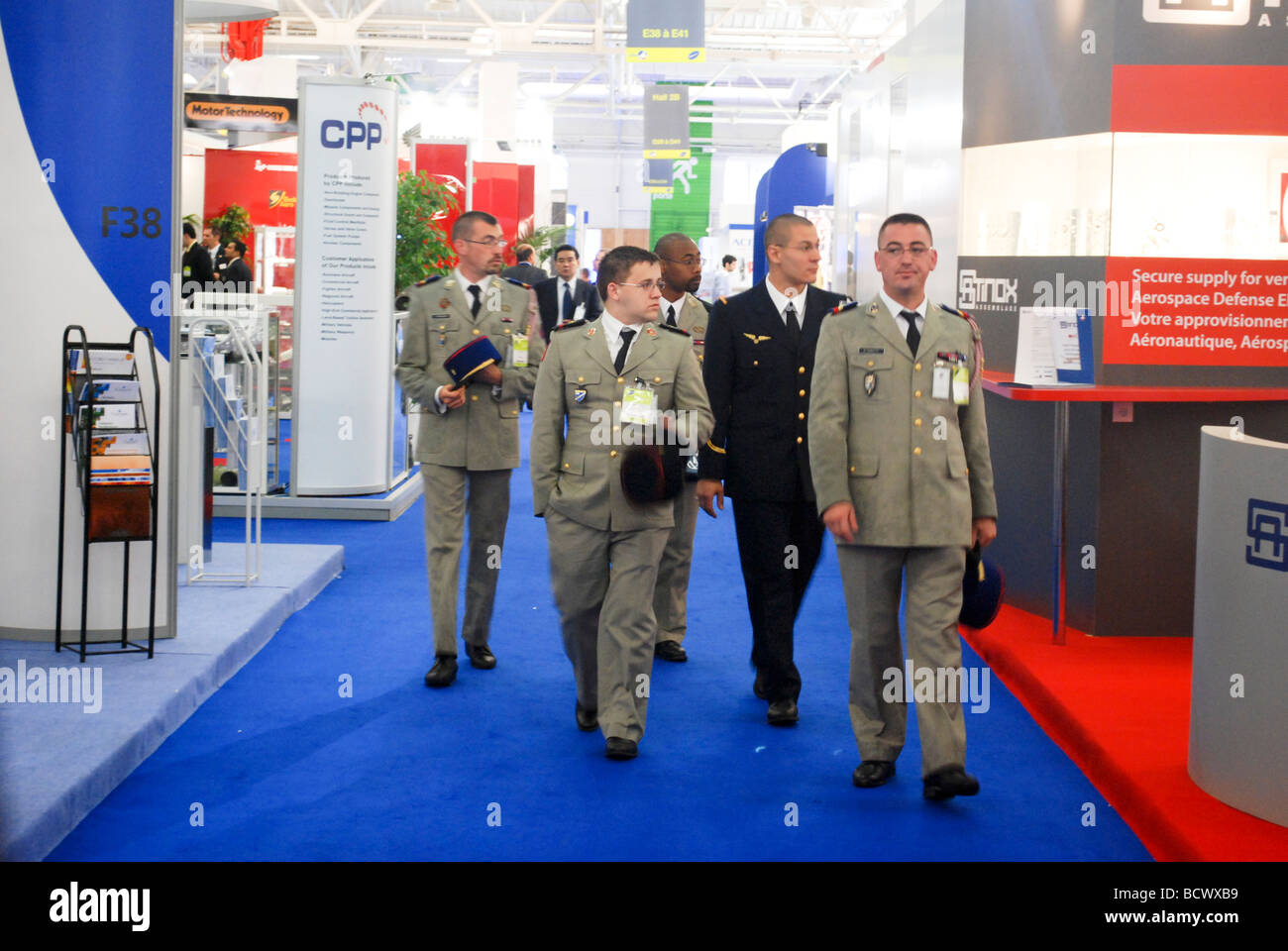 France Paris Bourget Airport Salon du Bourget The le Bourget Air show 2009 French Military delegates visiting the - Stock Image