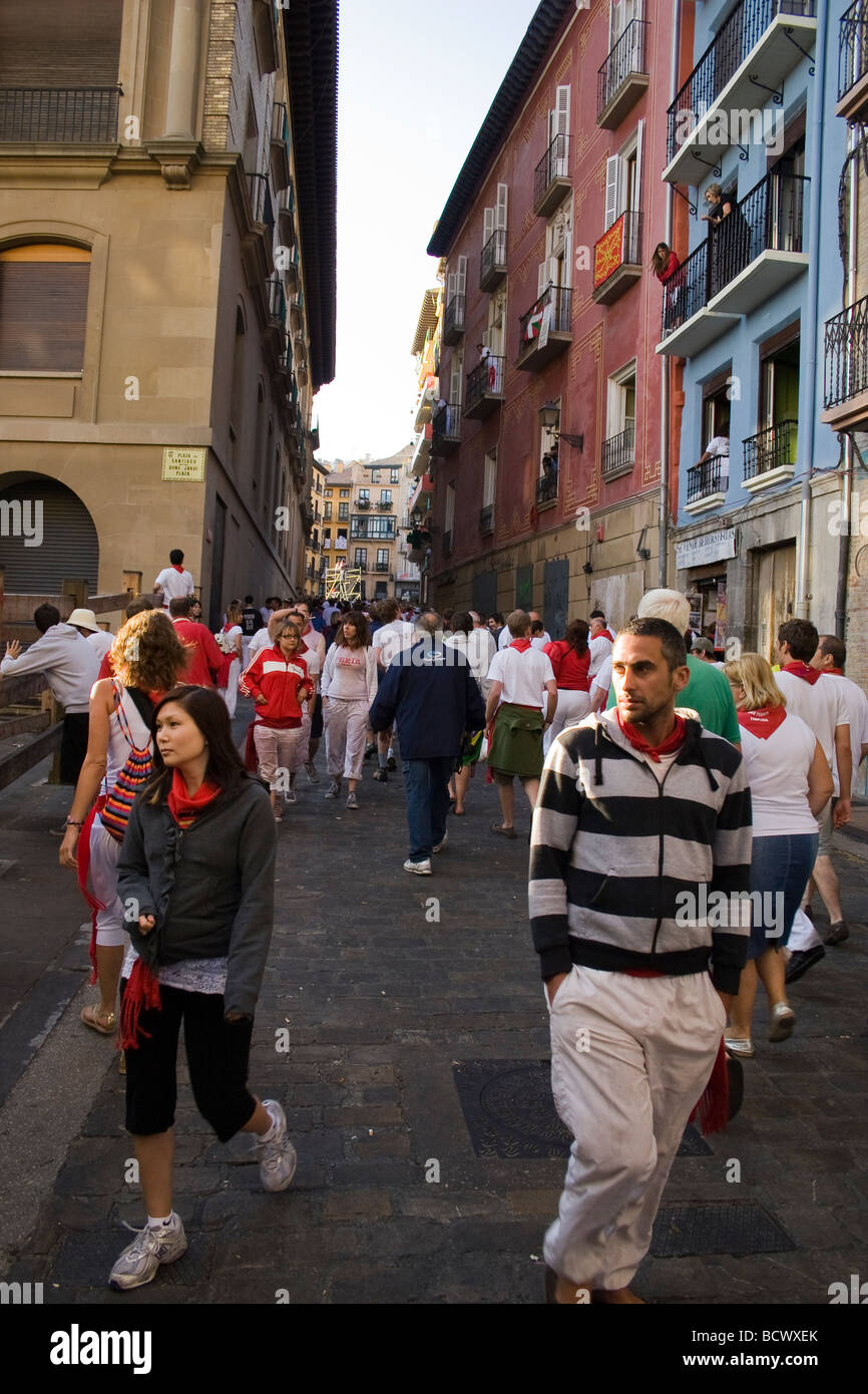 San Fermin Festival, Pamplona, Spain Stock Photo