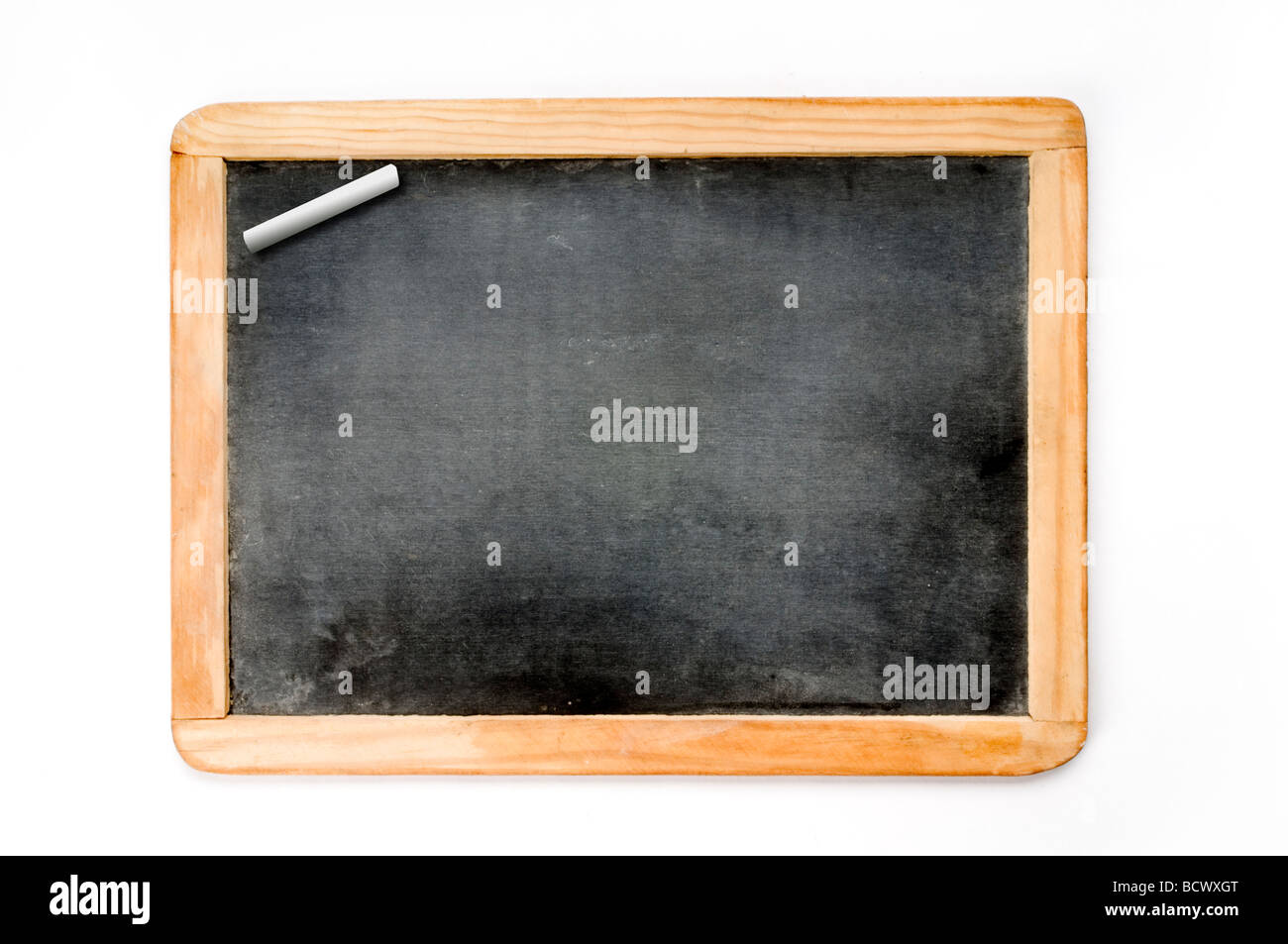 small chalk board on white - Stock Image