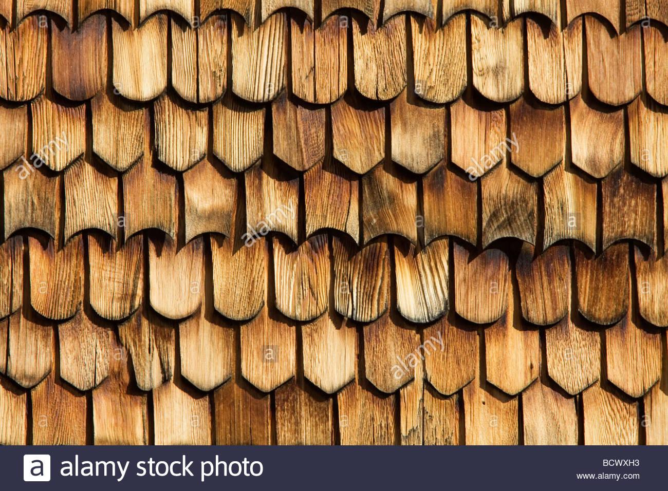 Weathered wood slats siding boards texture - Stock Image