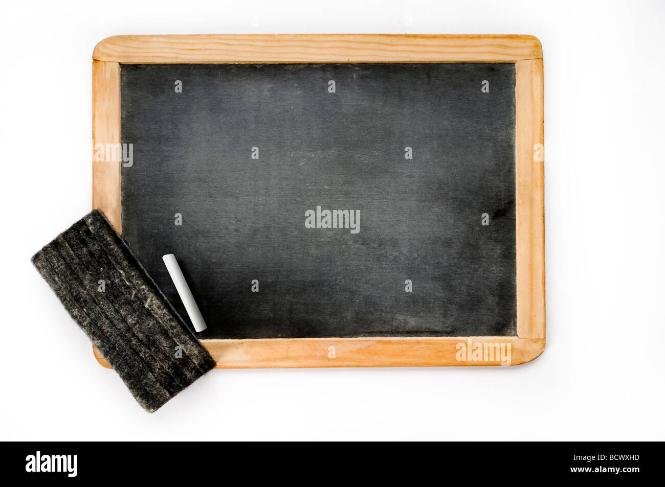 chalk board on white - Stock Image