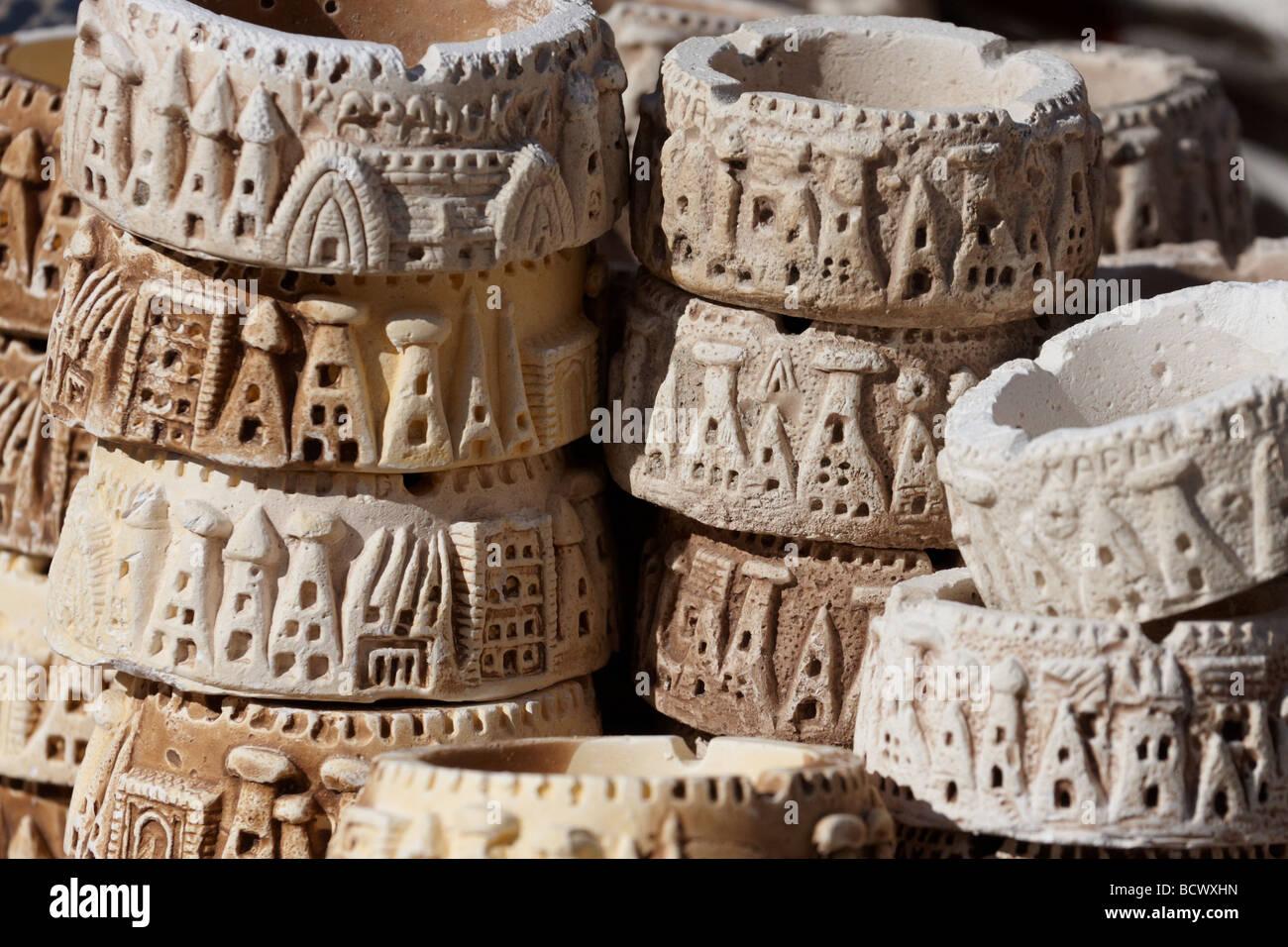 Souvenirs for sale Goreme Turkey Anatolia - Stock Image