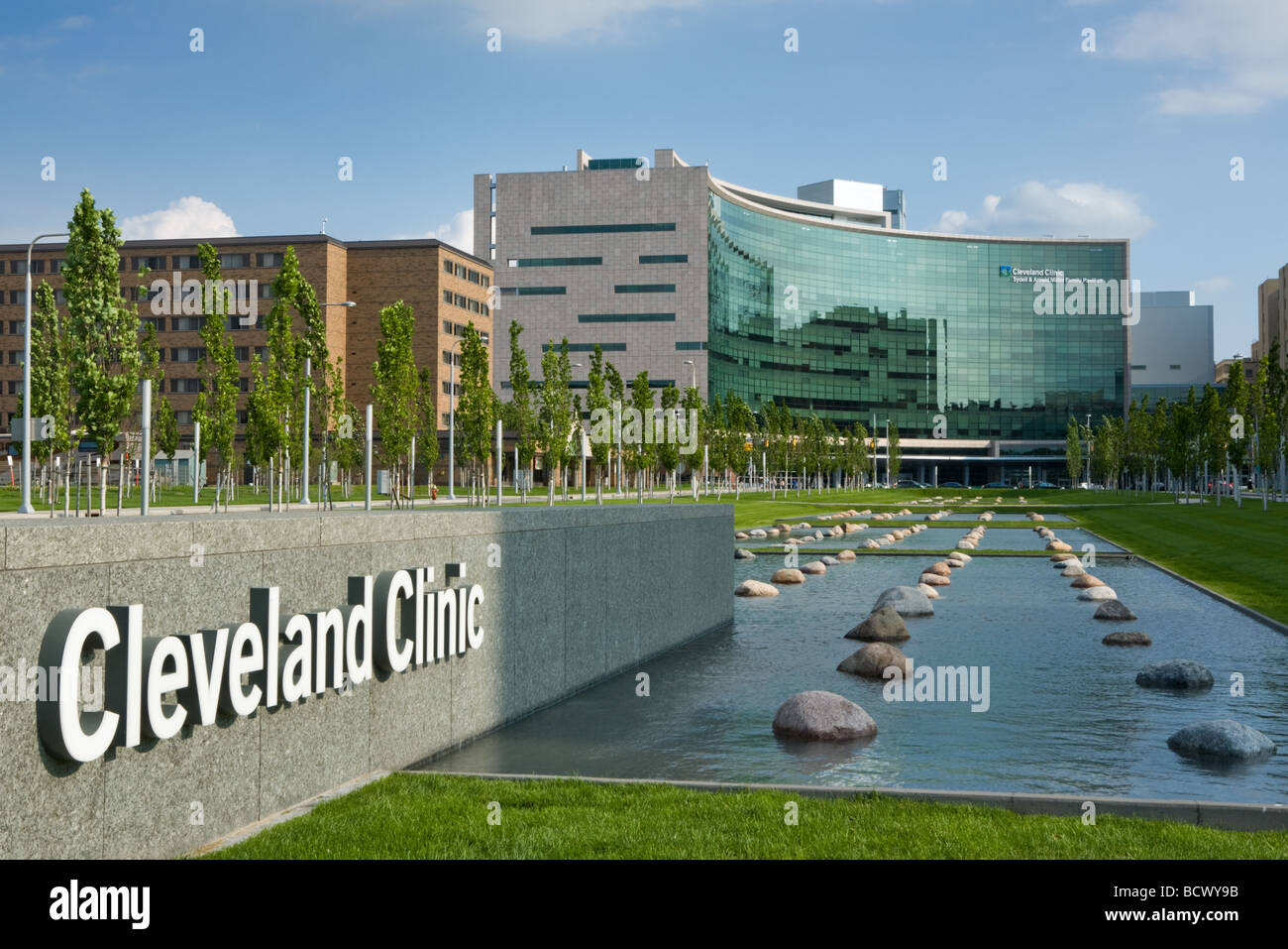 Cleveland Clinic excellent research hospital in Cleveland Ohio - Stock Image