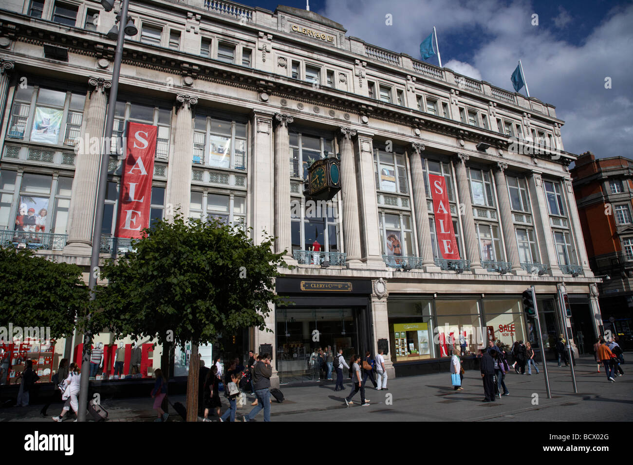 clery and co clerys department store oconnell street dublin city centre republic of ireland - Stock Image