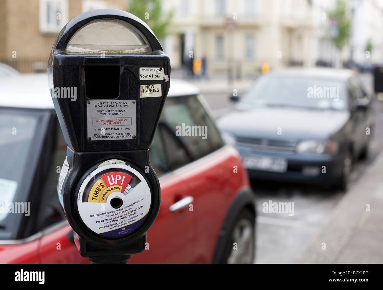 London parking meter - Stock Image