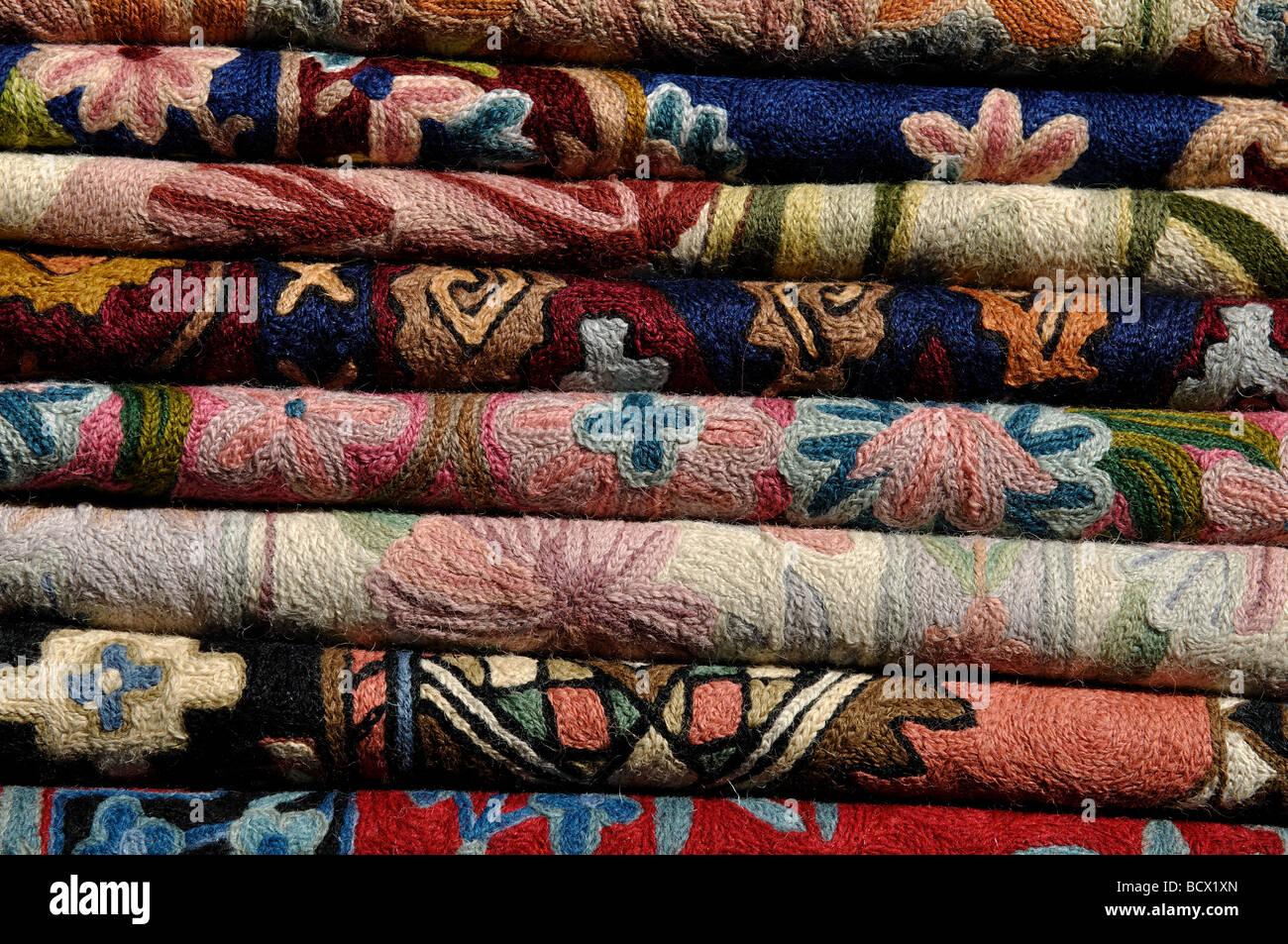 Kashmir kilim rugs on sale, UK - Stock Image