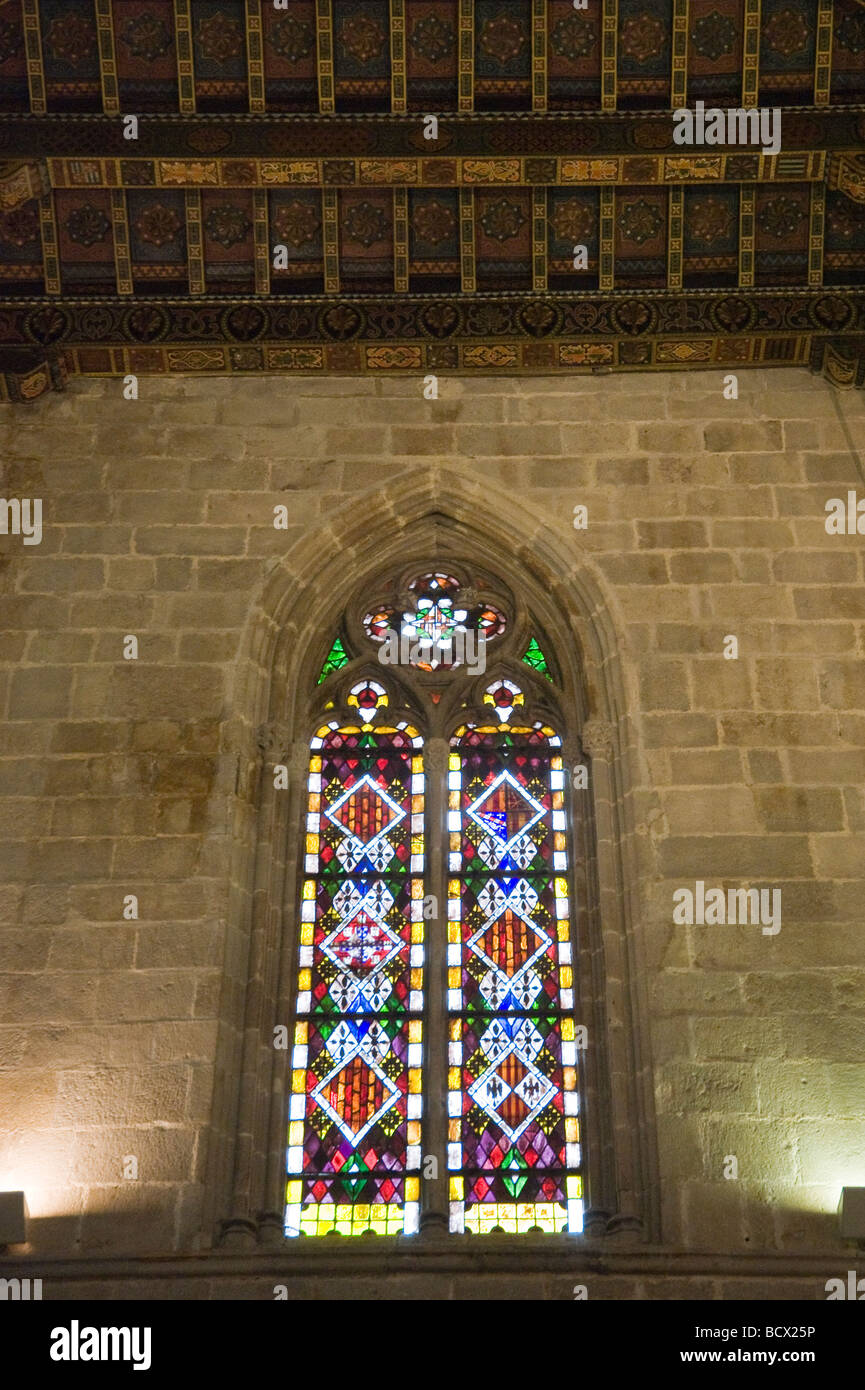 City History Museum Capella Reial de Santa Agata in the Palau Reial Major Barcelona Catalonia Spain - Stock Image