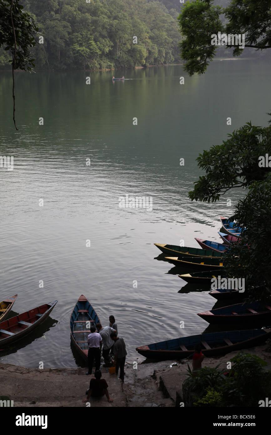 Nepal, Pokhara lake - Stock Image
