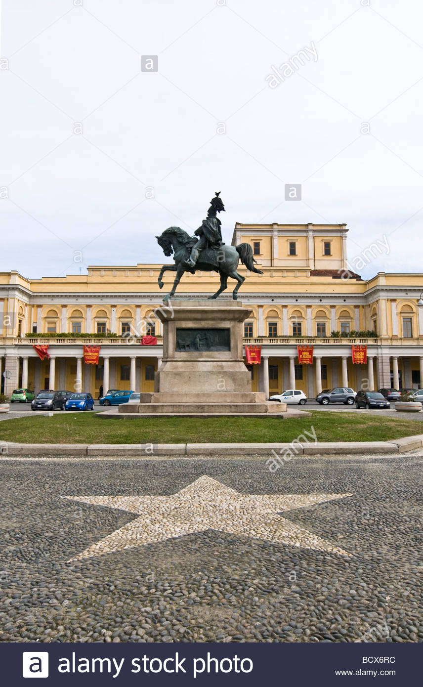 piazza martiri della libertà, novara, piedmont, italy - Stock Image