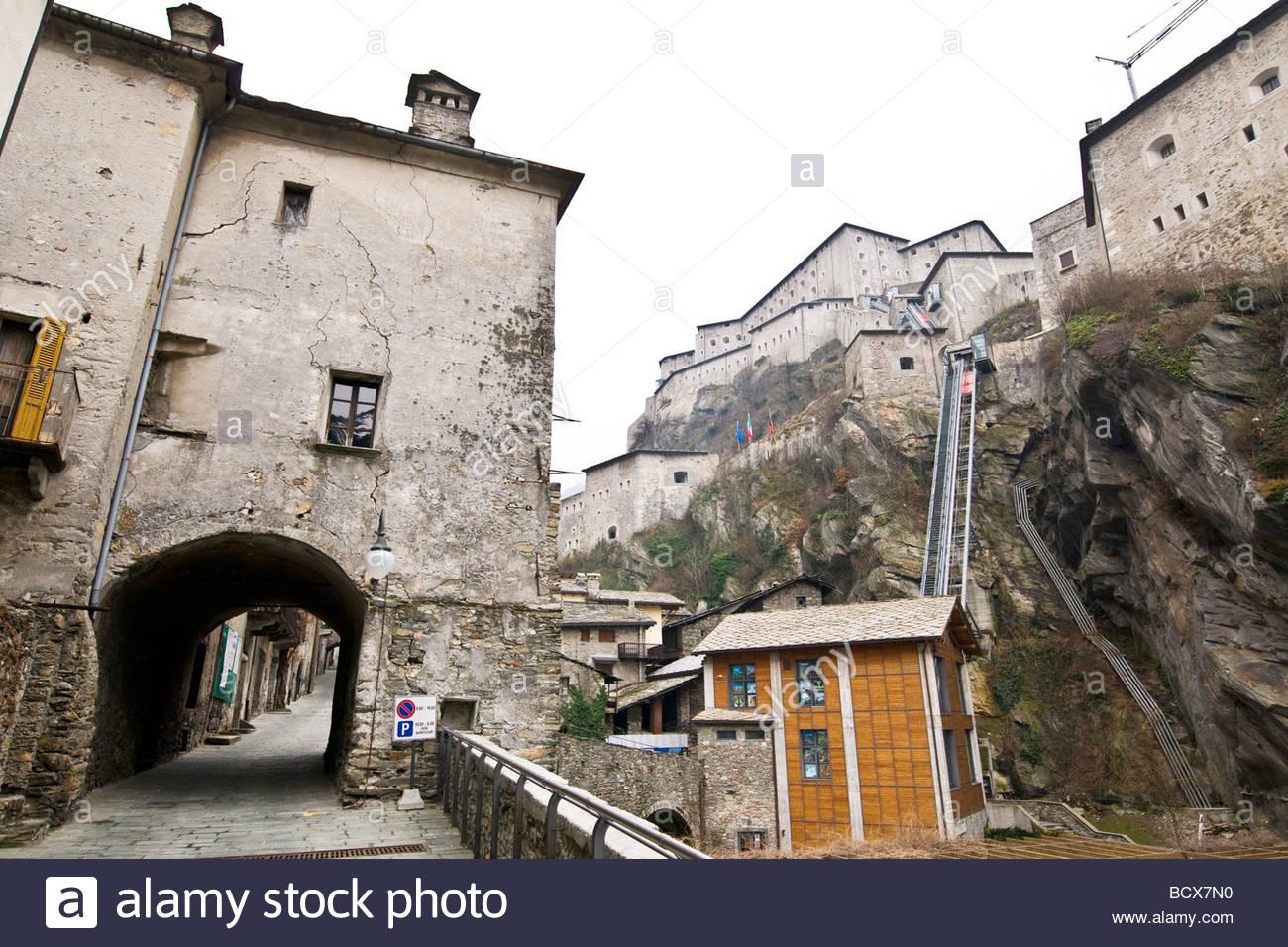 bard, valle d'aosta, italy - Stock Image