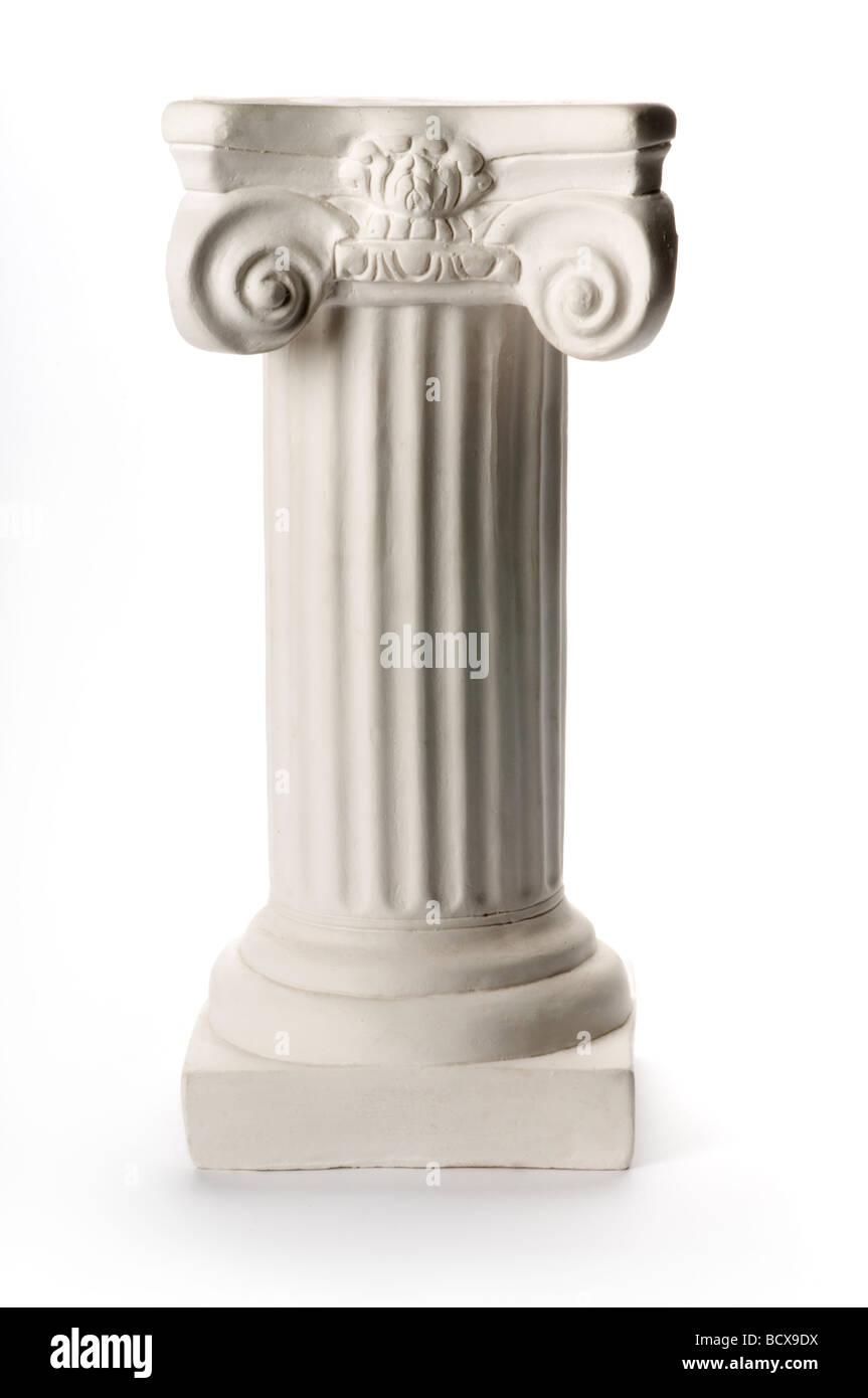 white pedestal on white - Stock Image