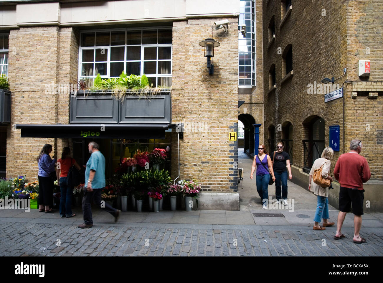 Butlers Wharf Shad Thames in London England UK - Stock Image