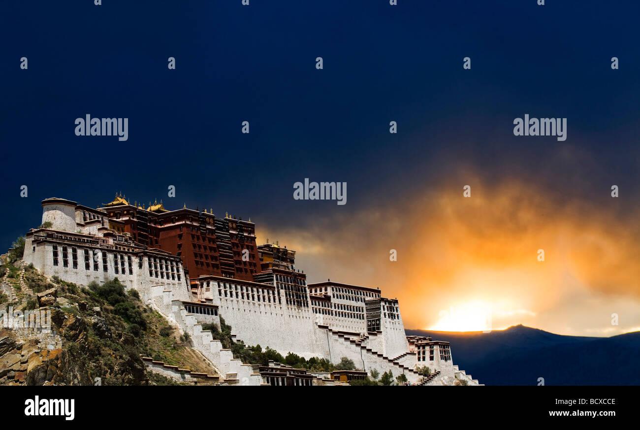 Potala Palace,Lhasa,Tibet,China - Stock Image