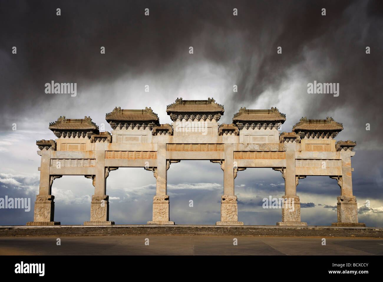 Eastern Qing Tombs,Hebei Province,China - Stock Image