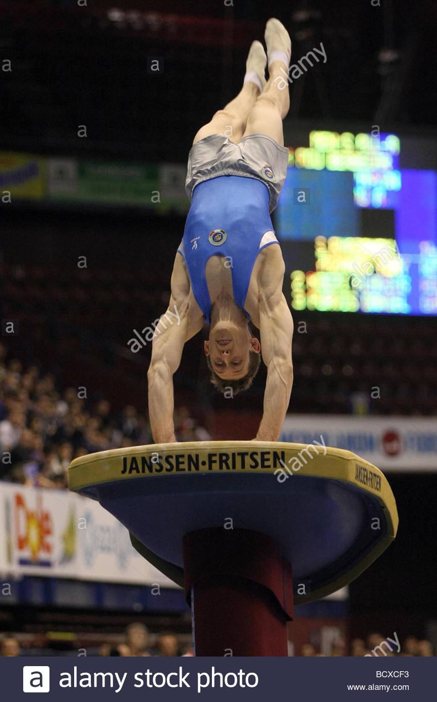 enrico pozzo, milano 2009, europeanartisticgymnasticchampionships - Stock Image