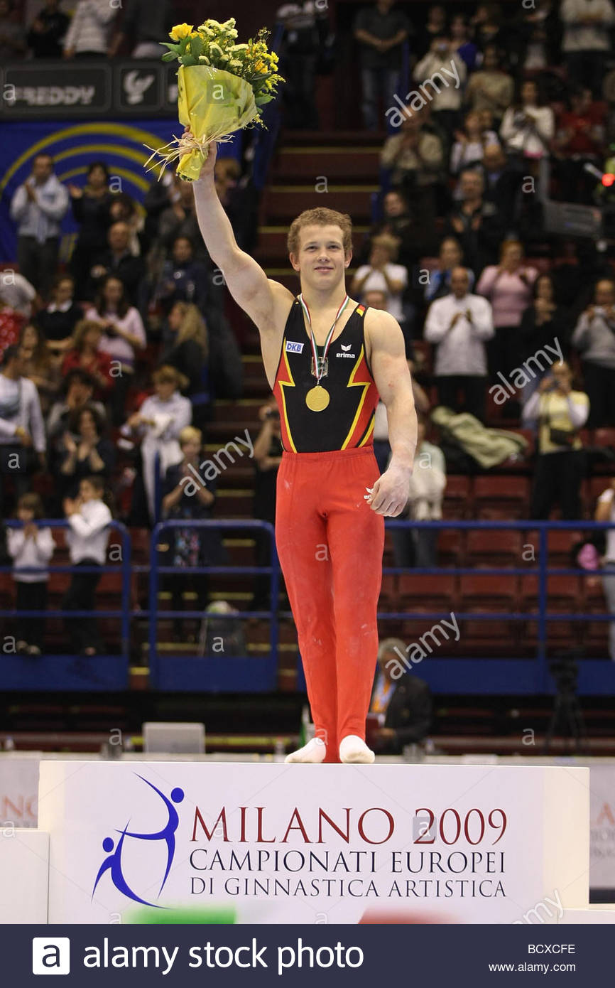 fabian hambuechen, milano 2009, europeanartisticgymnasticchampionships - Stock Image