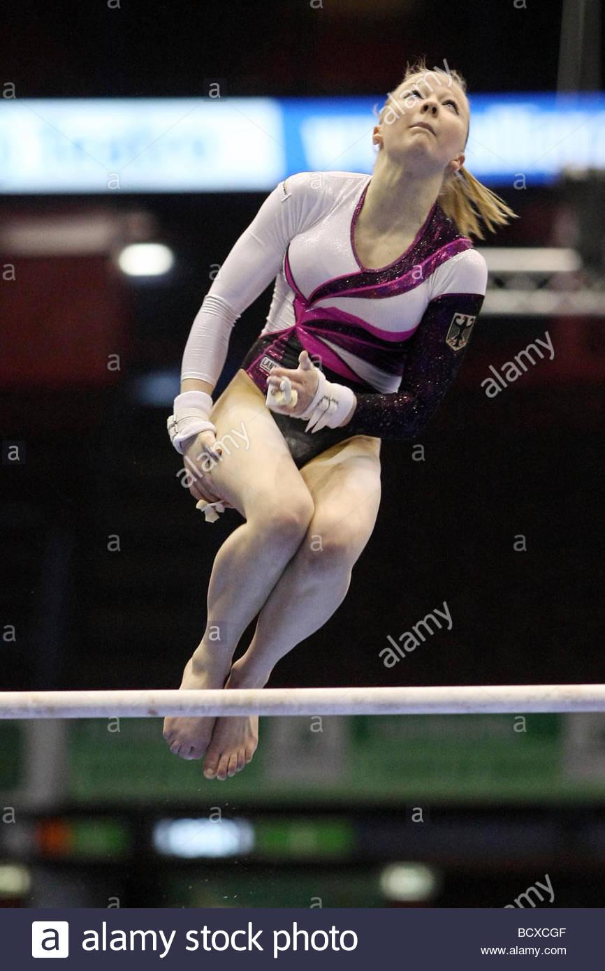anja brinker, milano 2009, europeanartisticgymnasticchampionships - Stock Image
