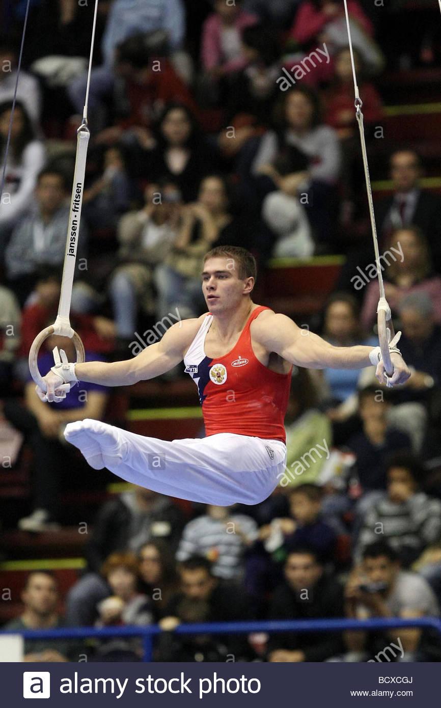 konstantin pluzhnikov, milano 2009, europeanartisticgymnasticchampionships - Stock Image