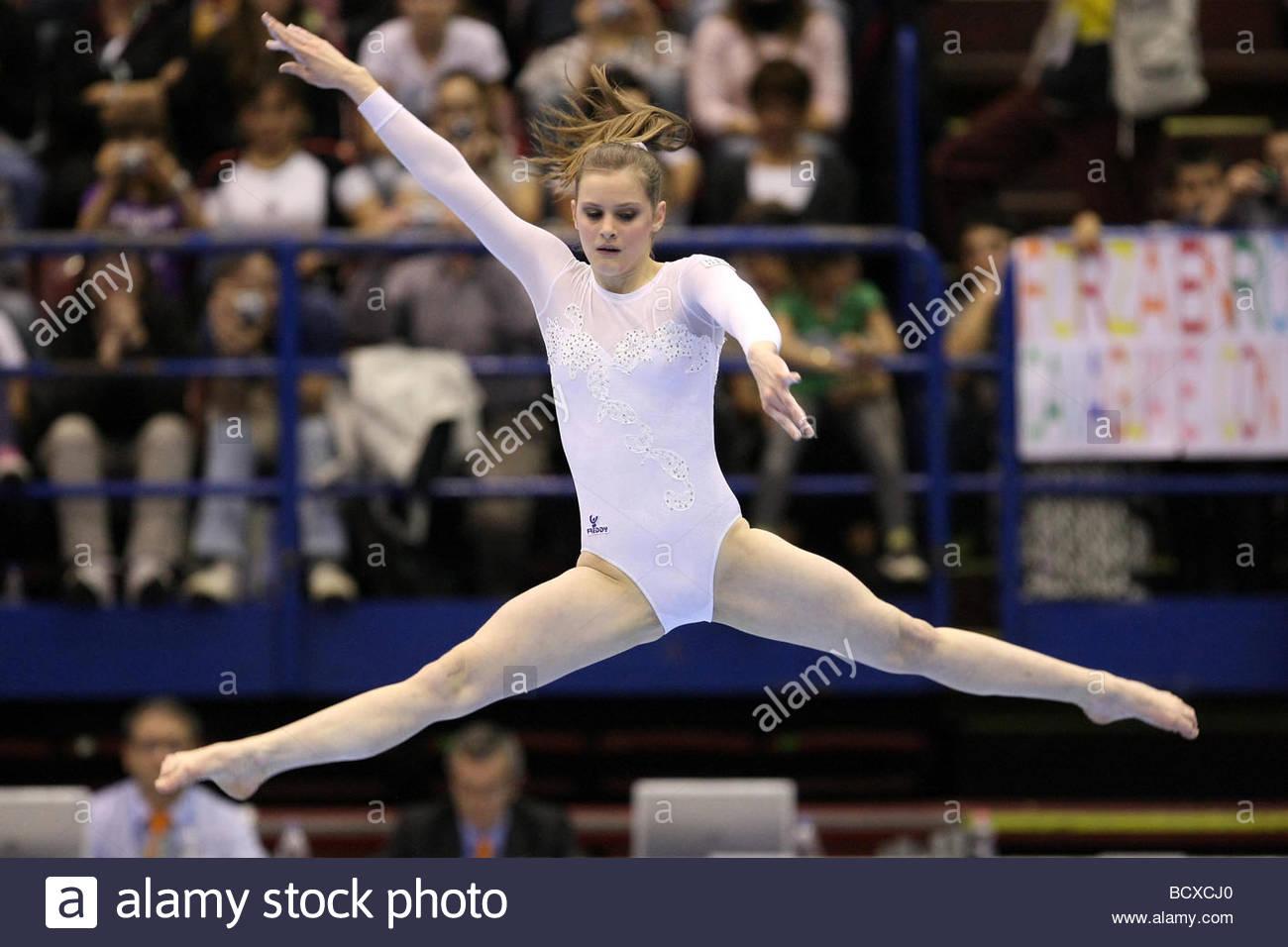 lia parolari, milano 2009, europeanartisticgymnasticchampionships - Stock Image