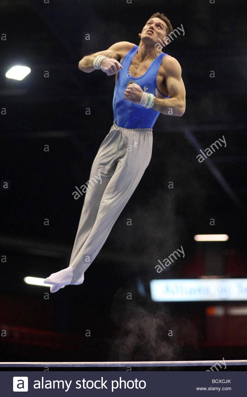 igor cassina, milano 2009, europeanartisticgymnasticchampionships - Stock Image