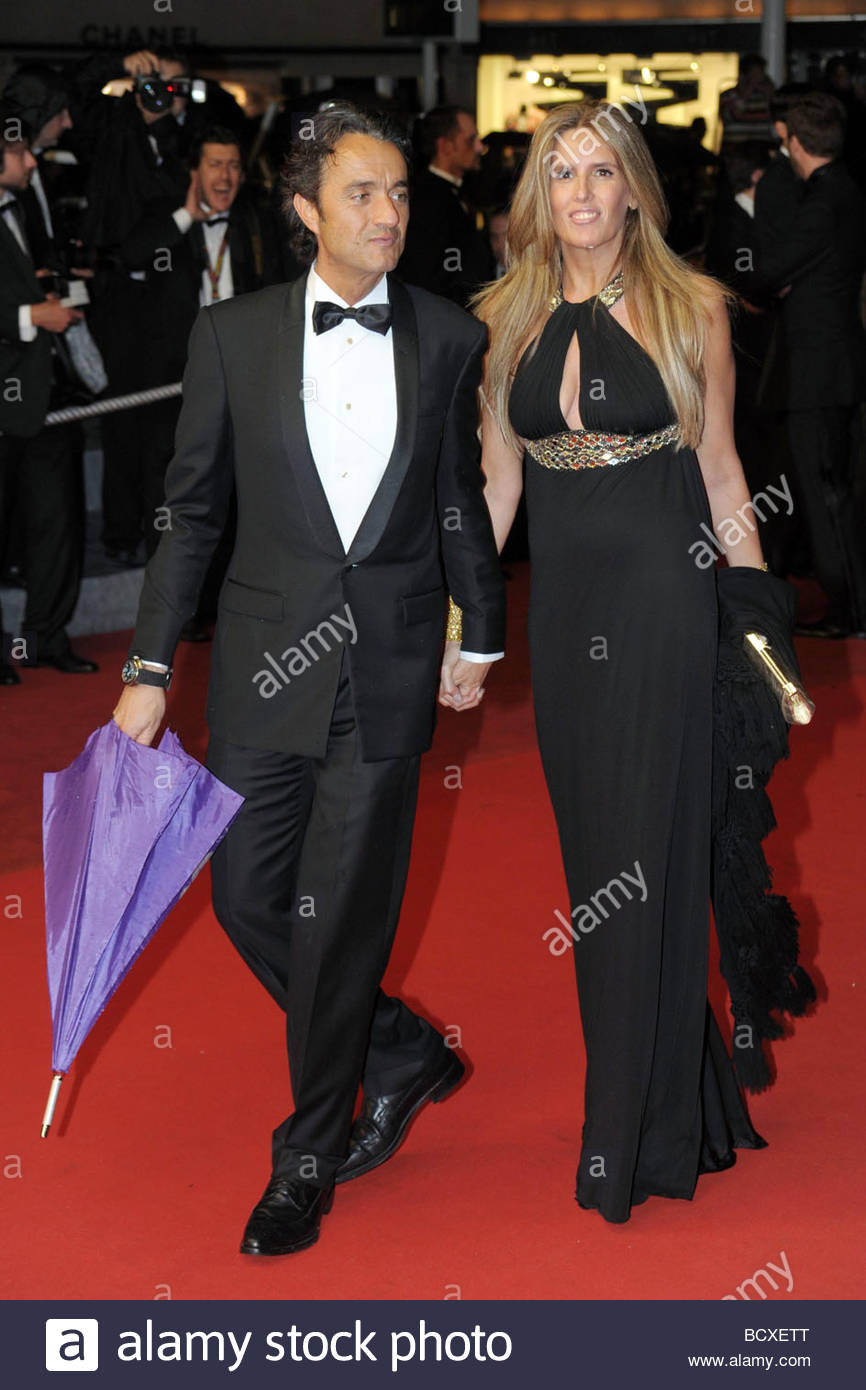 tiziana rocca, giulio base, cannes 2009, 62nd cannes film festival - Stock Image