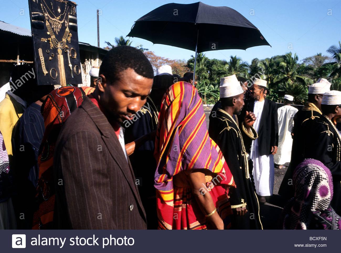 grand mariage, grande comore, comoros, africa - Stock Image