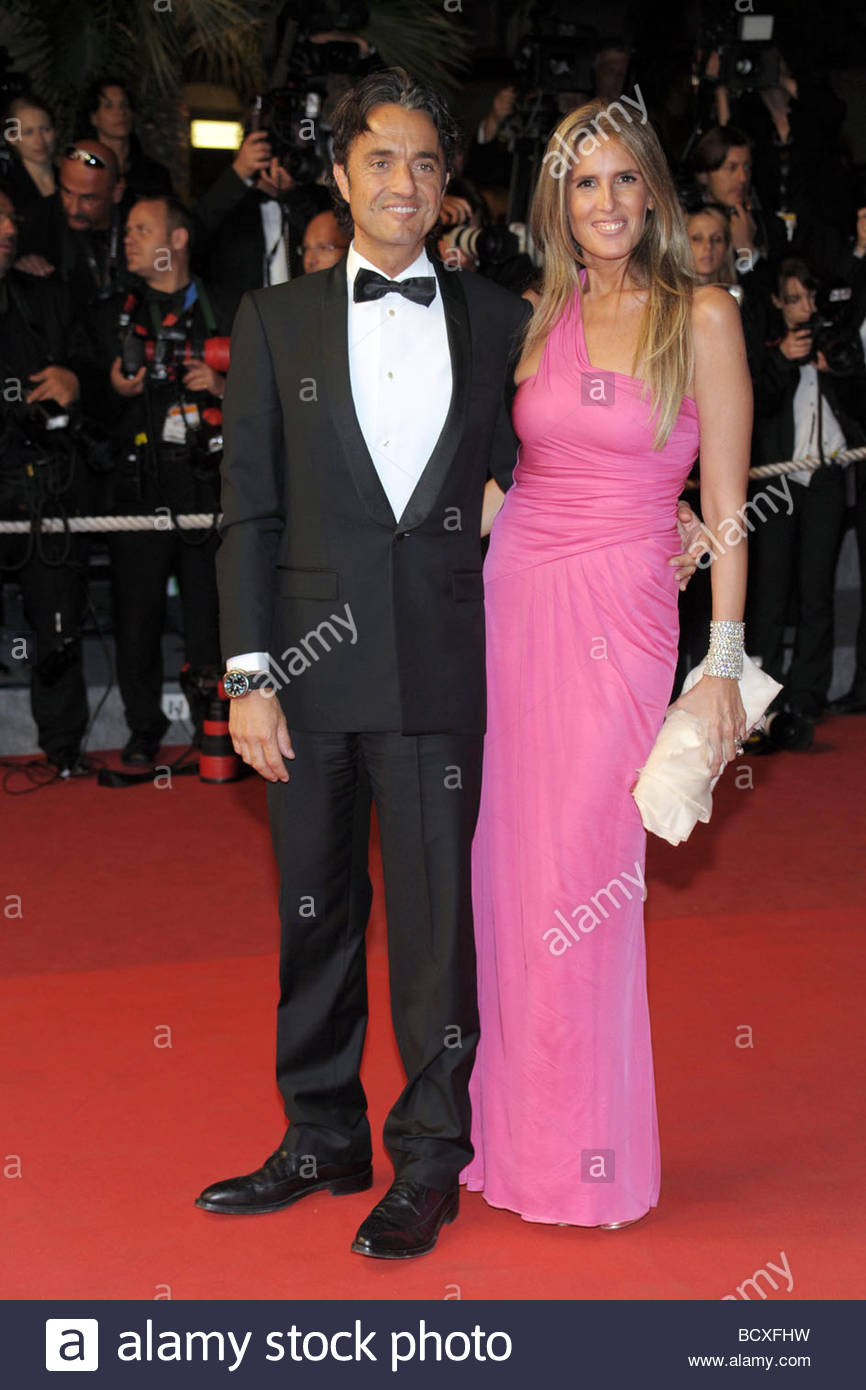 giulio base, tiziana rocca, cannes 2009, 62nd cannes film festival - Stock Image