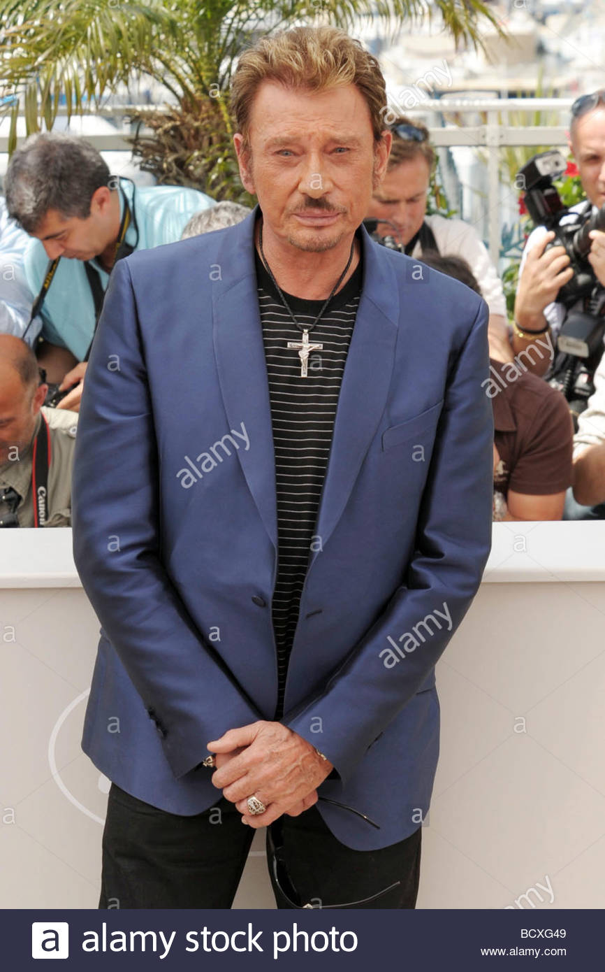 johnny hallyday, cannes 2009, 62nd cannes film festival Stock Photo