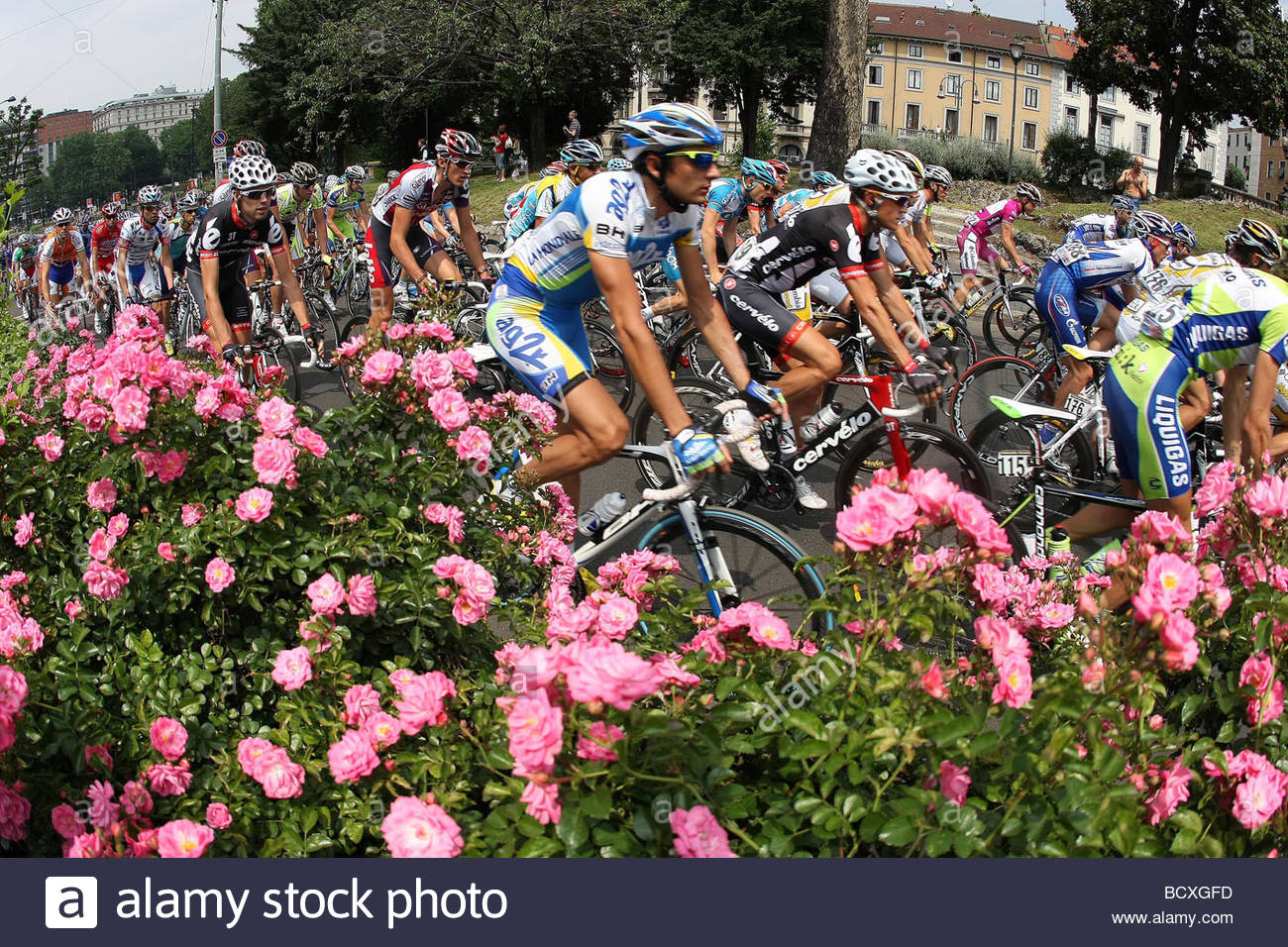 , milano 2009, 92nd giro d'italia, 9th stage milano show - Stock Image