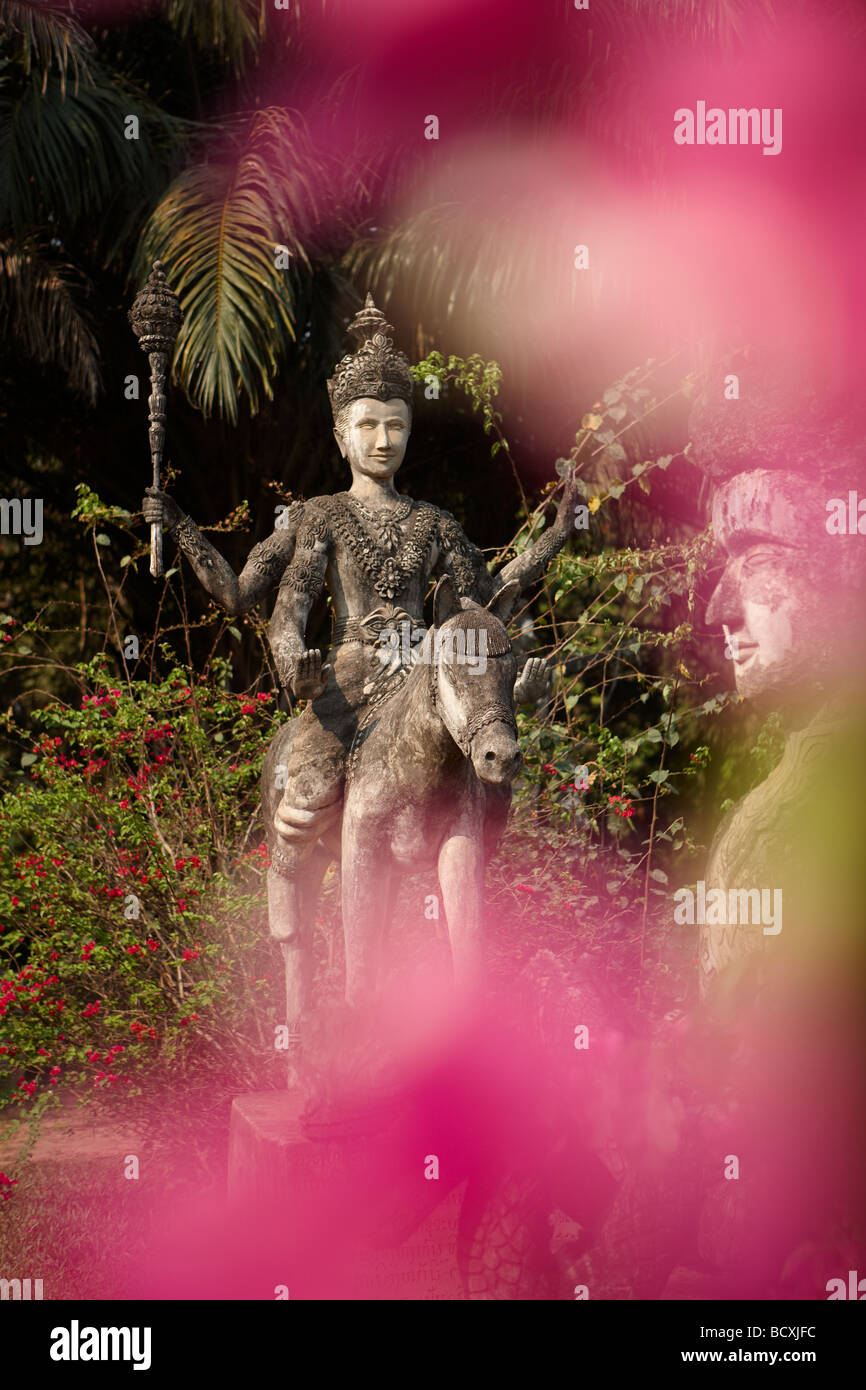 the garden of the Buddhas, Xieng Khuan, nr Vientiane, Laos - Stock Image