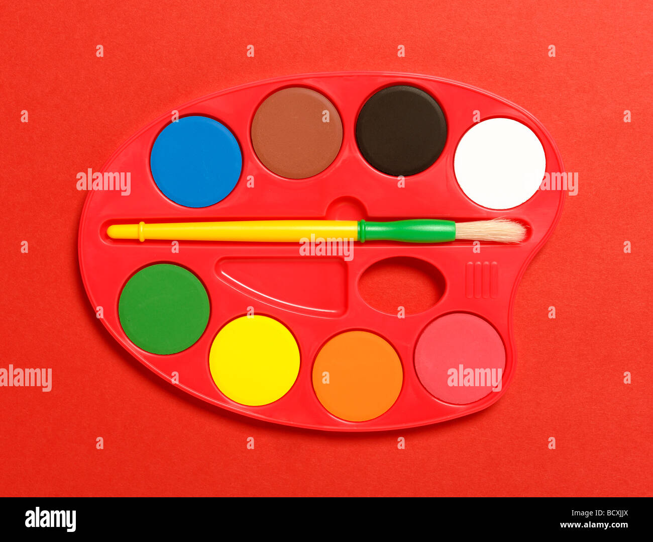 Paint palette - Stock Image