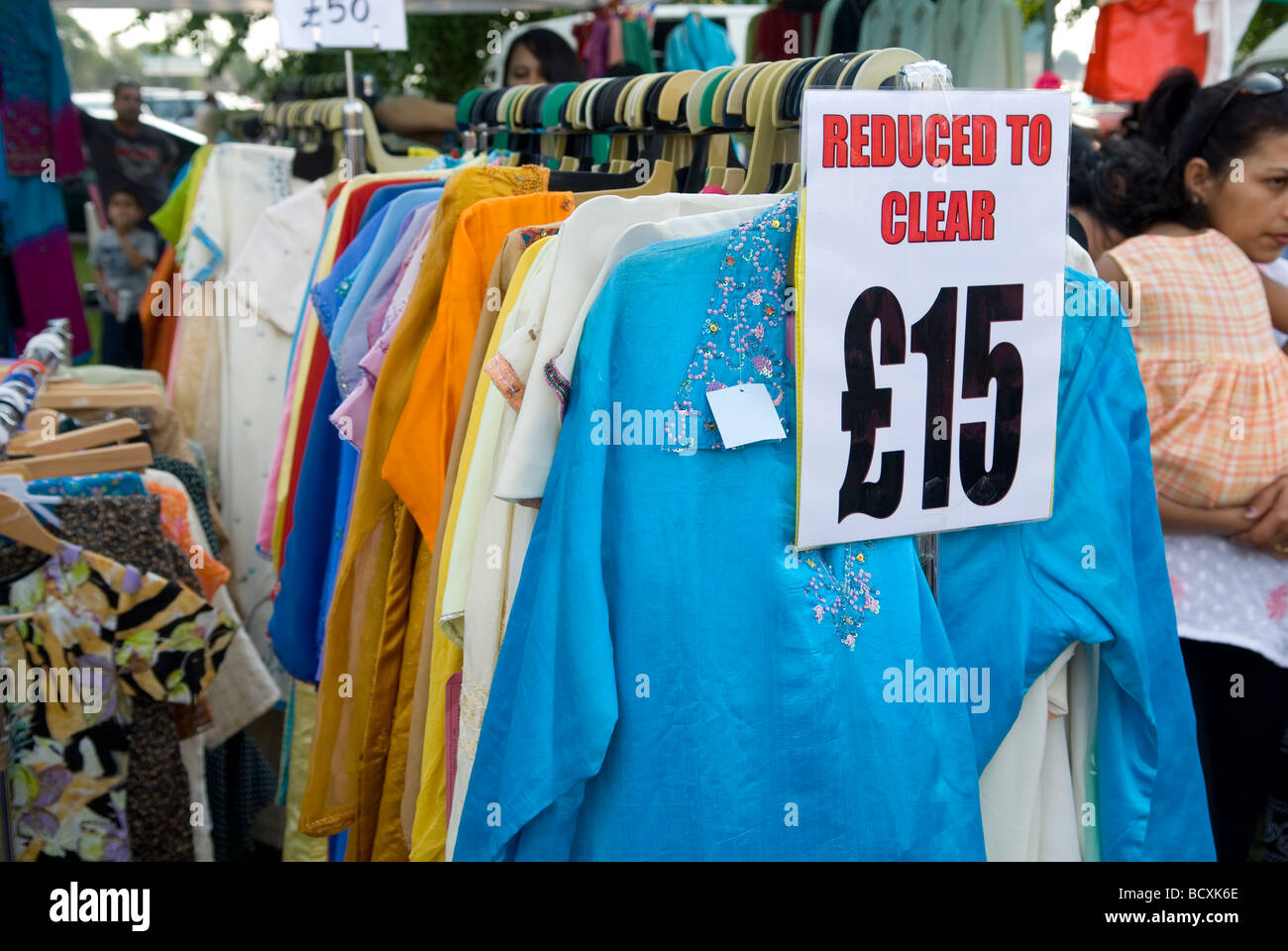 41a47d3ad0 Clothes on sale in the Mela Asian event in Manchester UK Stock Photo ...