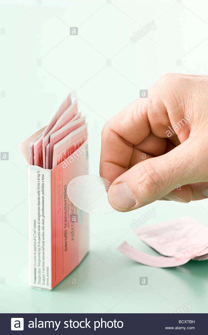 adhesive bandage, cardiotonic Stock Photo